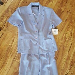 Sag harbor size 12 womens suit 2 piece periwinkle